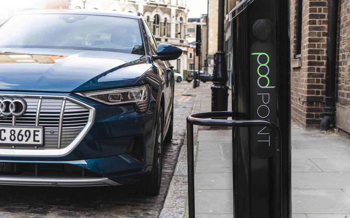 Audi E Tron Charging Pod Point Blur