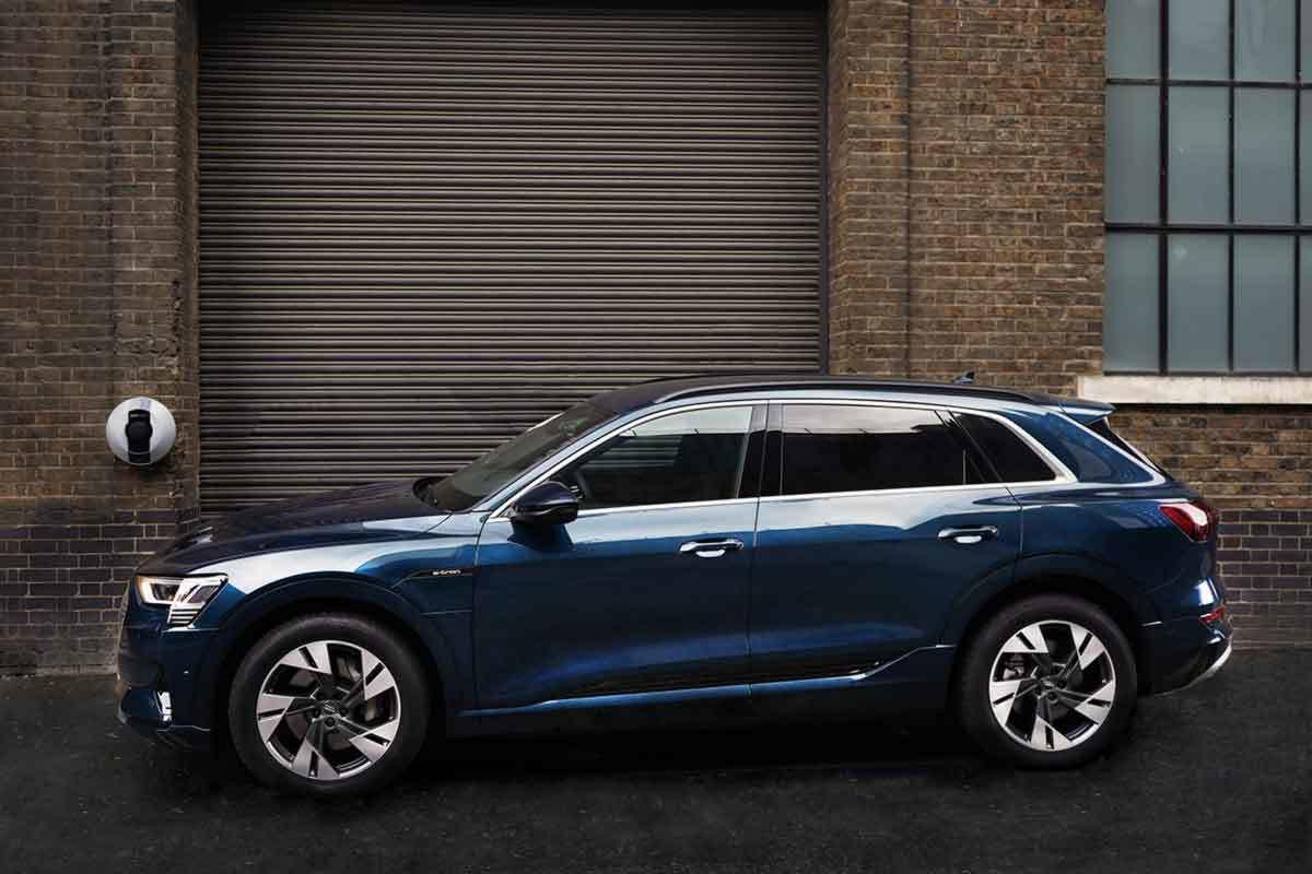 Audi E Tron Home Parked