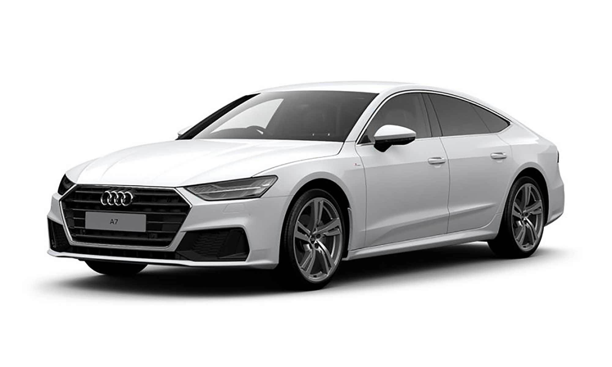 Audi A7 Tfsie White Background 1