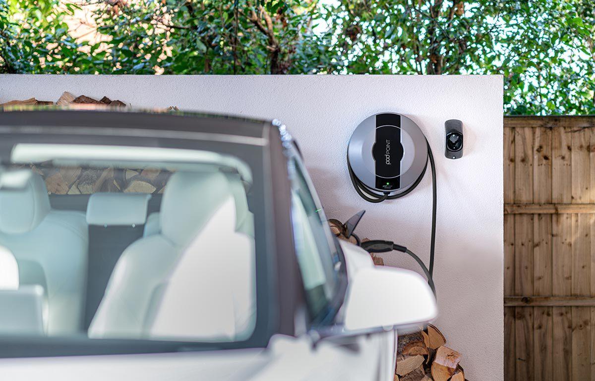 Charging Electric Car At Home
