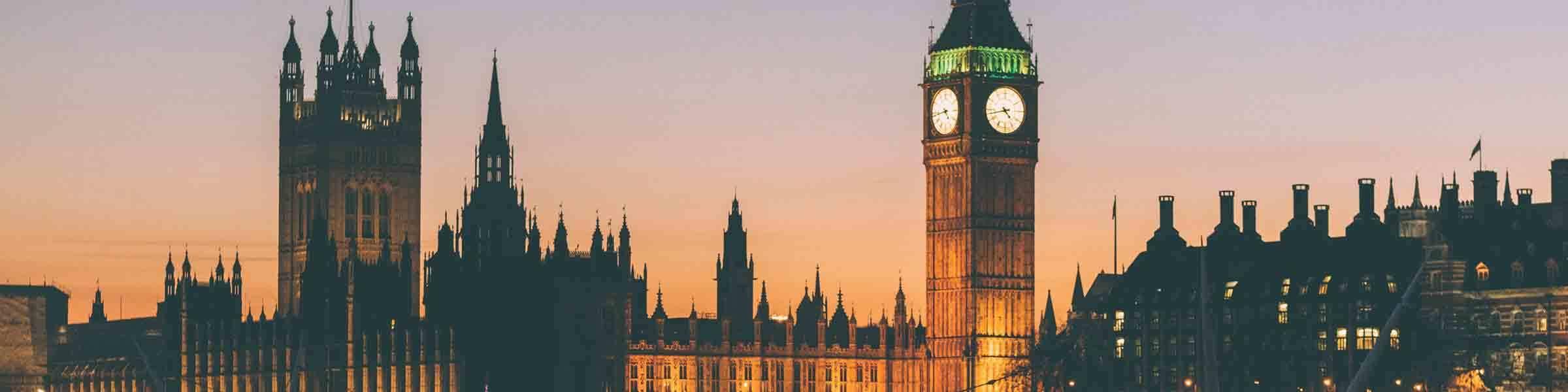 Westminster Sunset Header